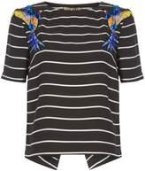 Biba Embellished striped top