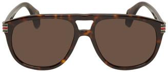 Gucci Tortoiseshell Aviator Sunglasses