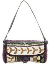 Jamin Puech Bead-Embellished Wool Flap Bag