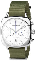 Briston Clubmaster Vintage Chronograph Watch, Green/White