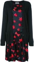 Moschino heart print cardigan dress - women - Silk/Cotton - 40