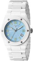 Swiss Legend Women's 10054-WBLTSA Throttle Analog Display Swiss Quartz White Watch