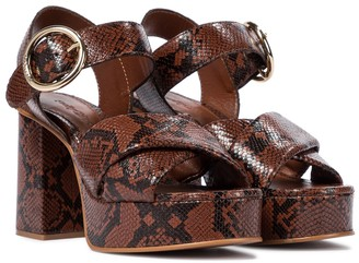 See by Chloe Lyna leather platform sandals