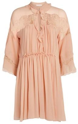 Chloé Silk Ruffle Dress