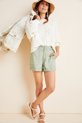 Cloth & Stone High-Rise Cargo Shorts By in Green Size L