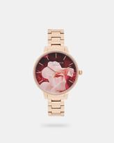 Ted Baker Porcelain Rose metal watch