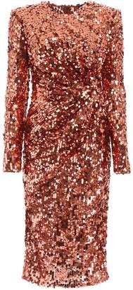 Dolce & Gabbana Embroidered Sequin Dress