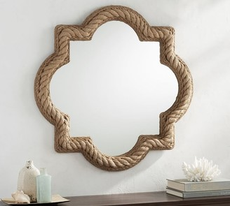 Pottery Barn Rope Mirror - Quatrefoil