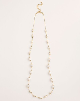Chico's Single-Strand Goldtone Faux-Pearl Necklace