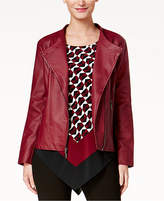 Alfani Petite Faux-Leather Jacket, Created for Macy's