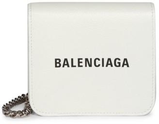 Balenciaga Cash Leather Wallet-On-Chain
