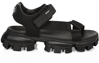 Prada Lug-Sole Leather Sport Sandals