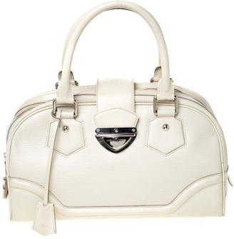 Louis Vuitton Ivorie Epi Leather Bowling Montaigne GM Bag