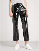 Rag & Bone Straight mid-rise patent leather trousers
