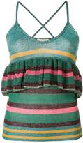 L'Autre Chose ruffle trim striped vest