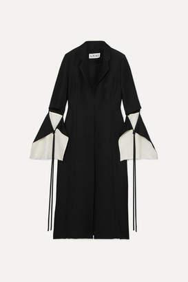 Loewe Cutout Linen-blend Coat - Black