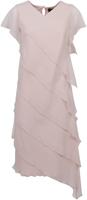 Max Mara Pink Technical Fabric Dress