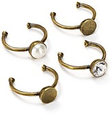 Marc Jacobs Cabochon Midi Rings, Set of 4