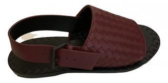 Bottega Veneta Burgundy Leather Sandals