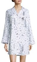 Saks Fifth Avenue Collection Personalized City-Print Sleepshirt