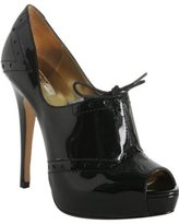 black patent 'Ellis' peep toe booties