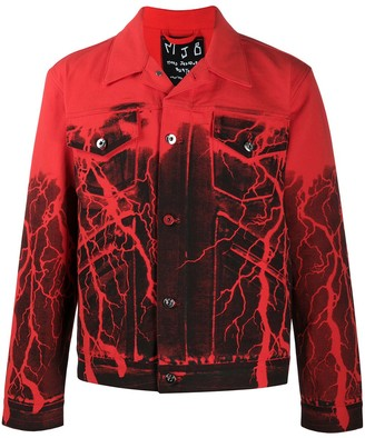Mjb Marc Jacques Burton Lightening print denim jacket