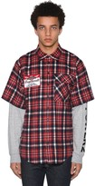 DSQUARED2 Check Flannel Ss Shirt W/jersey Sleeves