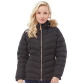 Trespass Womens Nadina Padded Hooded Jacket Black