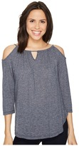 Michael Stars Brooklyn Jersey Front To Back Cold Shoulder Women's Clothing