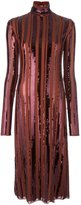 Nina Ricci sequin embellished turtleneck dress - women - Silk - 38