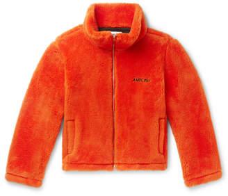 Ambush Logo-Embroidered Wool-Fleece Jacket