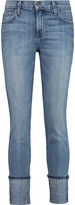 Current/Elliott The Cuffed Skinny mid-rise jeans