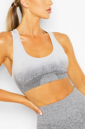boohoo Fit Seamfree Ombre Medium Support Sports Bra