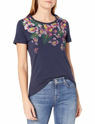 Margaritaville Women's Short Sleeve Tropical Parrot Crew Neck T-Shirt