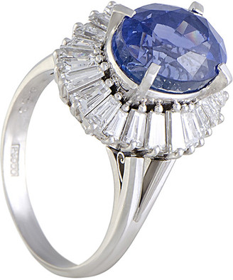 Heritage Platinum 9.17 Ct. Tw. Diamond & Sapphire Ring