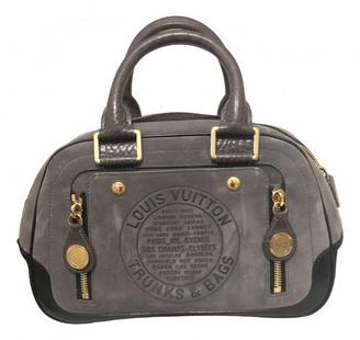 Louis Vuitton Grey Suede Handbags