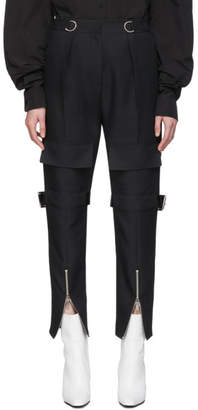 we11done Black Canvas Pocket Trousers