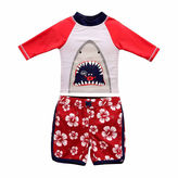 Asstd National Brand Pattern Rash Guard Set - Toddler