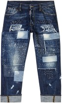 Dsquared2 Workwear Blue Distressed Relaxed Jeans