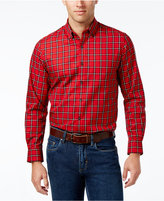 Club Room Men's Big and Tall Tartan Plaid Shirt, Only at Macy's