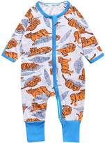 Kids Tales Baby Tiger Footed Zipper Pajama Sleeper Cotton Romper(Age 4-24M)