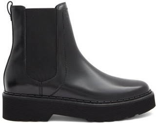 Tod's Tread-sole Leather Chelsea Boots - Black