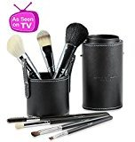 FREE Gift in Special Offers Below! Best Professional Makeup Brushes Set for Eye and Face, Includes FREE Leather Brush Holder, Great for Travel, Natural Real Hair Kit for Flawless Results