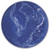 Caskata Chart Tampa Blue Platter - 12.5