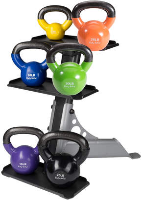 Body Solid Vinyl Kettle Bell Set With Rack
