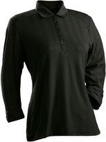 Asstd National Brand Grace 3/4 Sleeve Plus 3/4 Sleeve Jacquard Jacquard Polo Shirt Plus