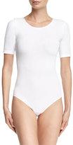 Wolford Bahamas Short-Sleeve Bodysuit, White