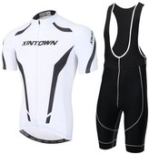 YOUJIA Mens Short Sleeve Cycling Jersey Bib Shorts Cycling Clothing Set (, 2XL)