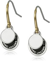 Marc Jacobs Logo Disc Enamel Earrings