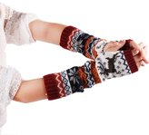 LUNIWEI Women Christmas Knitting Winter Super Warm Fingerless Long Gloves